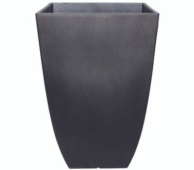True Temper HDR-019275 Southern Patio Newland Planter, 16 in W, 16 in D, Square, Resin, Coffee