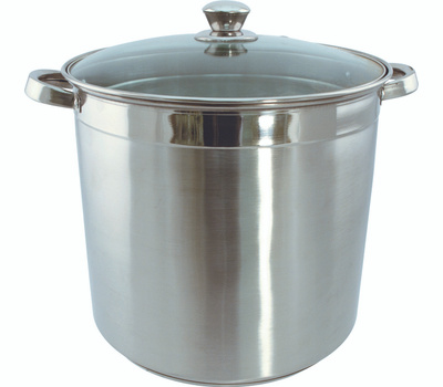 Dura Kleen 3020 Euro-Ware Stock Pot With Lid, 20 Qt Capacity, Stainless Steel