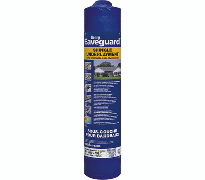 Henry HE740916 Eaveguard 3 By 65 Foot Self-Adhesive Shingle Underlayment Roll