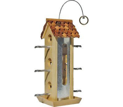 Perky Pet 50171 2 Pound Wood Tin Jay Bird Feeder