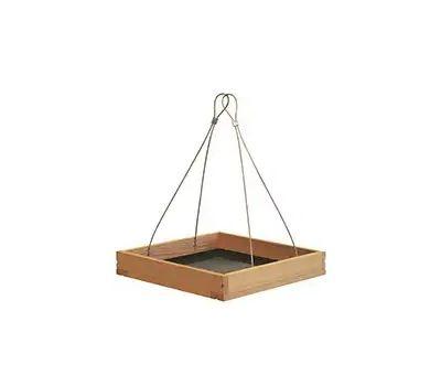 Perky Pet 50178 Hanging Tray Bird Feeder, 1.6 Pound, Metal/Pine, 9-1/4 in H