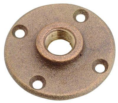 Anderson Metal 38151-12 3/4 Inch Brass Floor Flange