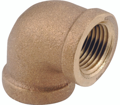 Anderson Metal 738100-16 Pipe Elbow, 1 in, Fip, 90 Deg Angle, Brass, Rough, 200 Psi Pressure