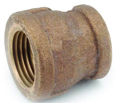 Anderson Metal 738119-0604 Reducing Coupling, 3/8 X 1/4 in, Fipt, Brass, 200 Psi Pressure