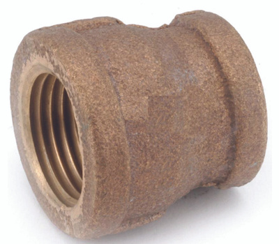 Anderson Metal 738119-1208 Reducing Coupling, 3/4 X 1/2 in, Fipt, Brass, 200 Psi Pressure