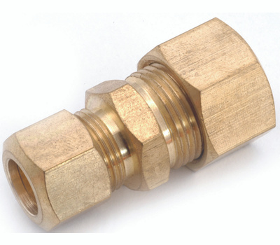 Anderson Metal 750082-1006 Tube Reducing Union, 5/8 X 3/8 in, Compression, Brass