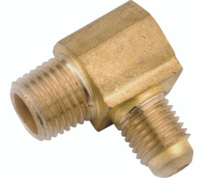 Anderson Metal 754049-0808 Tube Elbow, 1/2 in, 90 Deg Angle, Lead-Free Brass, 750 Psi Pressure
