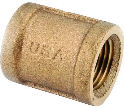 Anderson Metal 738103-20 Coupling, 1-1/4 in, Fipt, Brass