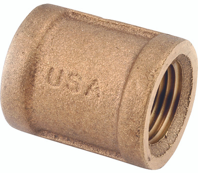 Anderson Metal 738103-24 1 1/2 Inch Brass Coupling