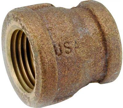 Anderson Metal 738119-1206 Reducing Coupling, 3/4 X 3/8 in, Fipt, Brass, 200 Psi Pressure