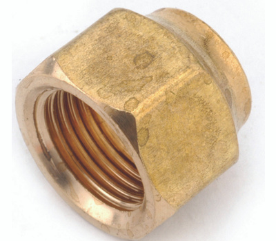 Anderson Metal 754018-06 Flare Nut, 3/8 in, Flare, Brass