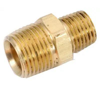 Anderson Metal 756123-0402 1/4x1/8 Hex Red Nipple