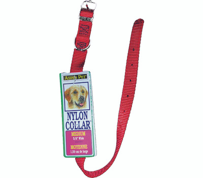 Petmate 15356 Collar Nylon 5/8 By 14 Inch Red