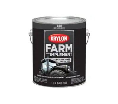 Krylon K01965000 Farm & Implement Paint Low Gloss Black Gallon