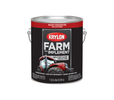 Krylon K01968000 Farm & Implement Paint Massey Ferguson Red Gallon