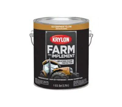 Krylon K01985000 Farm & Implement Paint Old Equipment Yellow Gallon