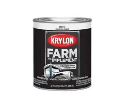 Krylon K02021000 Farm & Implement Paint Gloss White Quart
