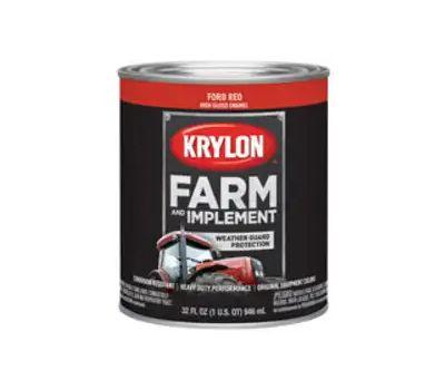 Krylon K02029000 Farm & Implement Paint Ford Red Quart