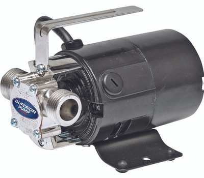 Superior Pump 90040 Transfer Pump, 2.3 a, 115 V, 0.1 Hp, 3/4 in Outlet, 330 Gpm, Iron