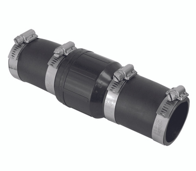 Superior Pump 99522 Check Valve Abs 1-1/2 Inch With Rubber Boot Inlet And Outlet
