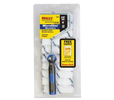 Whizz 25009F Mini Roller Cover, 3/8 in Thick Nap, 10-1/2 in L, Microfiber Cover