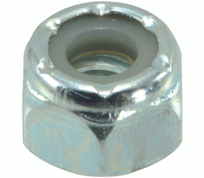 Midwest Fastener 03649 Nylon Lock Nuts 1/4 Inch 20 TPI Zinc Plated Steel 100 Pack