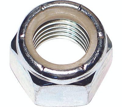 Midwest Fastener 03656 Nylon Lock Nuts 3/4 Inch 10 TPI Zinc Plated Steel 20 Pack