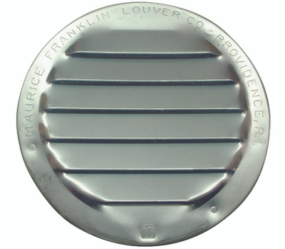 Maurice Franklin RL-100 3 3 Inch Round Mill Finish Aluminum Screen Louver