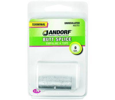 Jandorf 60761 Terminal Butt Splice Connector Uninsulated Wire Gauge 0