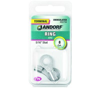 Jandorf 60794 Terminal Ring Nylon Uninsulated 5/16 Inch Stud Wire Gauge 8