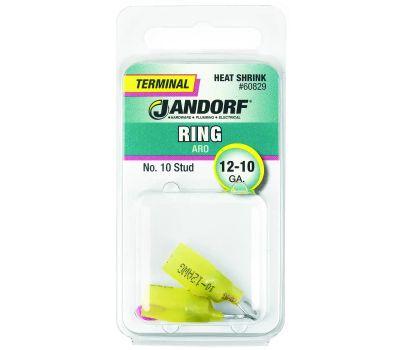 Jandorf 60829 Ring Heat Shrink Number 10 Stud Wire Gauge 12-10