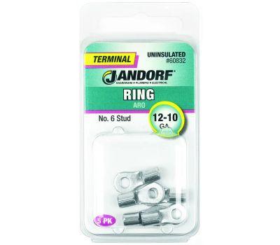 Jandorf 60832 Ring Uninsulated Number 6 Stud Wire Gauge 12-10