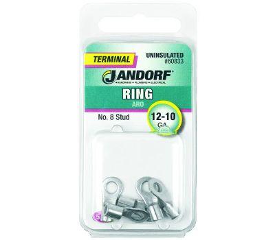 Jandorf 60833 Ring Uninsulated Number 8 Stud Wire Gauge 12-10