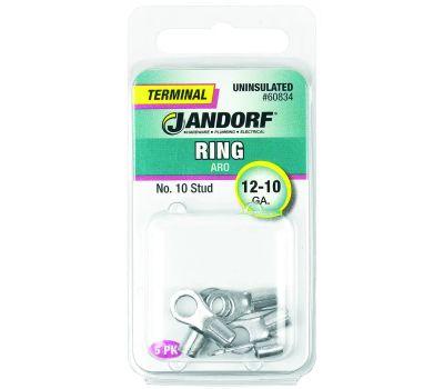 Jandorf 60834 Ring Uninsulated Number 10 Stud Wire Gauge 12-10