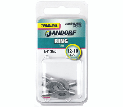 Jandorf 60836 Ring Uninsulated 1/4 Inch Stud Wire Gauge 12-10