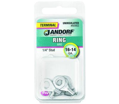 Jandorf 60902 Terminal Ring 16-14 Uninsulated 1/4