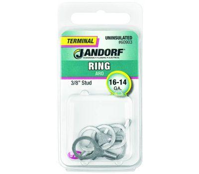 Jandorf 60903 Terminal Ring 16-14 Uninsulated 3/8