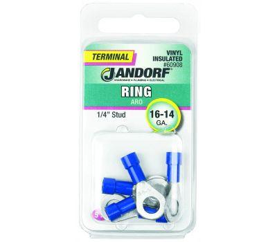 Jandorf 60908 Terminal Ring 16-14 Vinyl In 1/4