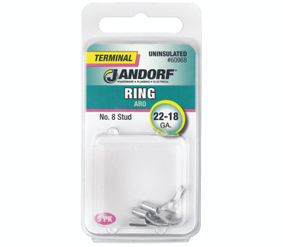 Jandorf 60968 Terminal Ring 22-18 Uninsulated N8