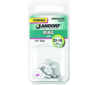 Jandorf 60970 Terminal Ring 22-18 Uninsulated 1/4