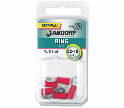 Jandorf 60972 Terminal Ring 22-18 Vinyl Insulated N6