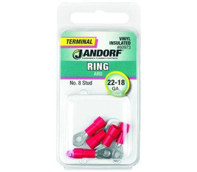 Jandorf 60973 Terminal Ring 22-18 Vinyl Insulated N8