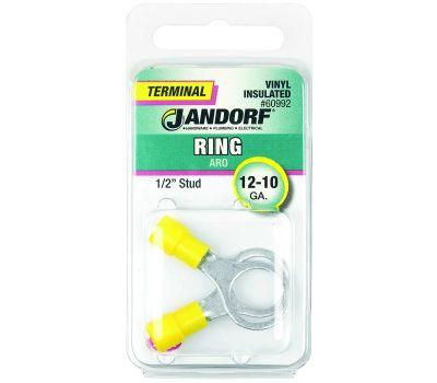 Jandorf 60992 Terminal Ring 12-10 Vinyl Insulated 1/2