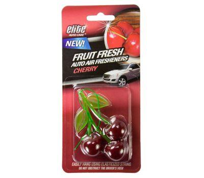 FLP 8990 Elite Auto Care Fresh Fruit Auto Hanging Air Freshener Cherry Assorted Colors