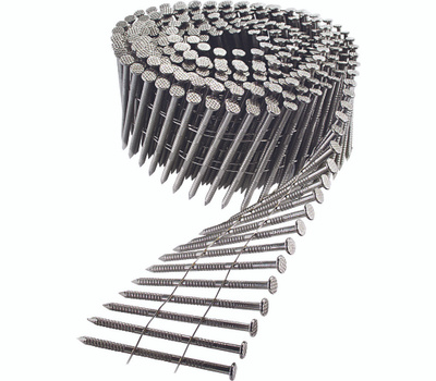 Simpson Strong Tie S13A175SNC Siding Nail, 1-3/4 in L, 13 Gauge, Stainless Steel, Full Round Head, Annular-Ring Shank