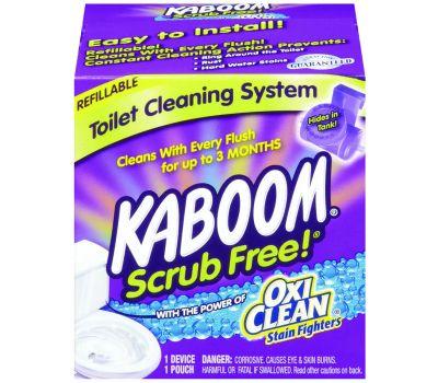 Church & Dwight 35113 Kaboom Toilet Cleaning System, Granular, Chlorine, White