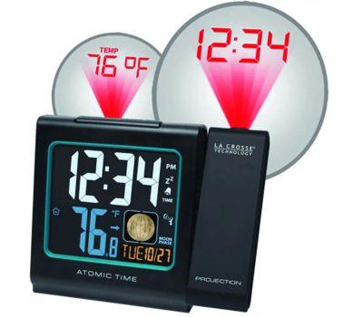 La Crosse 616-146A Clock Alarm Atomic With Temp Date
