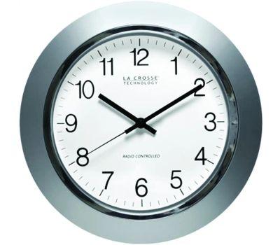 La Crosse WT-3144S Analog Clock 14 Inch Silver