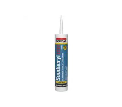 Soudal Accumetric 146901 Soudacryl Ltx1 5823539 Siliconized Acrylic Latex Caulk, Clear, -20 to 185 Deg F, 10.1 Fl-Oz Cartridge
