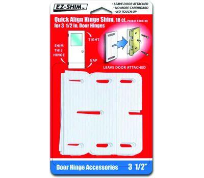 EZ Shim HS350BP Hinge Shims 3-1/2 Inch White